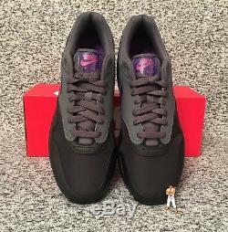 Nike Air Max 1 Noir Gris Violet Rose Ar1249-002 Taille 9 Us Uk 10 Eu 44