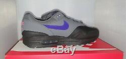 Nike Air Max 1 Ripstop Gris Foncé Noir Violet Rose Uk 10 Ar1249-002