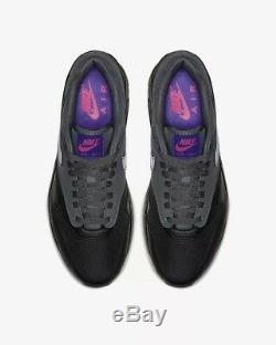 Nike Air Max 1 Taille Uk 9 Eur 44 Wolf Gris / Noir / Rose Blast / Féroce Pourpre