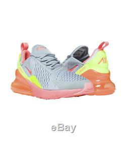 Nike Air Max 270 Gs Gris Rose Vert Noir Blanc 943345-006 Sz 5a Jeunes Enfants