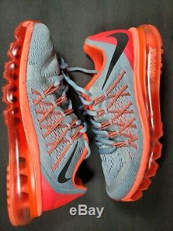 Nike Air Max 360 2015 Femmes Taille 8 Chaussures Gris Lave Rouge Rose Noir 698903 009
