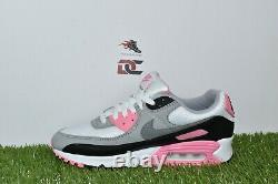 Nike Air Max 90 Femmes Cd0490-102 Blanc Gris Noir Chaussures Rose Rose Multi Tailles