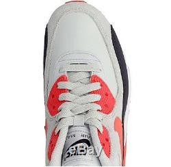 Nike Air Max 90 Ltr Chaussures De Course En Cuir Gris Platine Noir Rose 6 Femmes