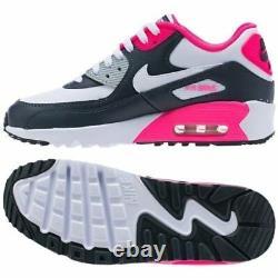Nike Air Max 90 Prm Blanc Noir Gris Rose Rouge Femmes Chaussures De Course