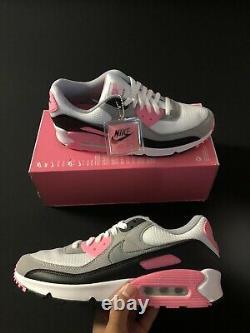 Nike Air Max 90 Recraft Rose Blanc Gris Noir Rose Cd0881-101 Taille Homme 10