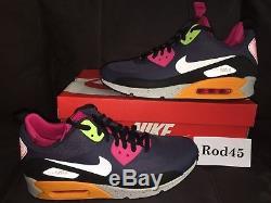 Nike Air Max 90 Sneakerboot Ns Chaussure Gris Noir Rose Vert 11.5