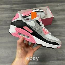 Nike Air Max 90 White Grey Pink Black Trainers Size Uk9 Us10 Eur44 Lot