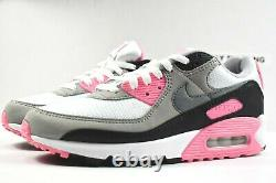 Nike Air Max 90 (taille Femme 7) Chaussures Cd0490 102 White Grey Black Rose Pink