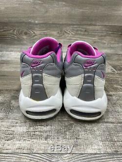 Nike Air Max 95 ID Gris Blanc Rose Noir Taille Us Hommes 10,5 818592-996