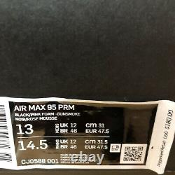 Nike Air Max 95 Premium Homme 13 Black Pink Gunsmoke Grey Fog Shoes Cj0588 Nouveau