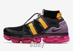 Nike Air Max Vapormax Flyknit Utilitaire Noir Gris Gridiron Rose Blast Ah6834-006