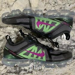 Nike Air Vapormax 2019 Taille Premium Hommes 14 Noir Gris Volt Rose Nouveau Bateau Rapide