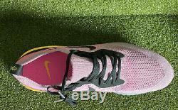 Nike Epic Réagir Flyknit Men's Rose Noir Et Gris Espadrilles Taille 14 Aq0067-500