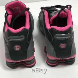 Nike Femmes Shox Nz 636088 026 Noir / Gris Foncé Rose Blast Wmns Taille 11