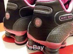 Nike Femmes Shox Nz 636088 026 Noir / Gris Foncé Rose Blast Wmns Taille 8