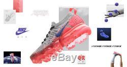 Nike Femmes Vapormax Flyknit 2.0 Ultramarine Hot Punch Gris Rose Noir 942843-104