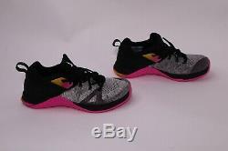 Nike Flyknit Metcon 3 Rose Noir Chaussures Gris Taille De Formation De Femmes De Ar5623-002 7