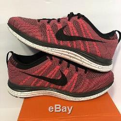 Nike Flyknit One + 1 I Rose Air Max Ds 554887-600 Sz 10 Nib Noir Brouillard Gris