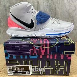 Nike Kyrie 6 VI Size 10.5 Vast Grey Soar Digital Pink Black Basketball Shoes