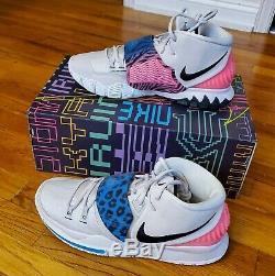 Nike Kyrie Irving 6 VI / Gris Vastes Rose / Noir 13 Chaussures De Sport