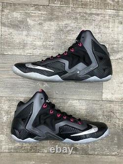 Nike Lebron 11 XI Miami Nights Noir Graphite Gris Rose Argent 616175-003 Sz 11