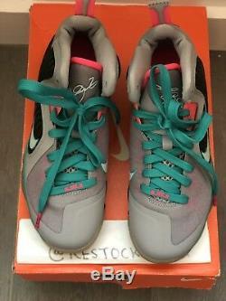 Nike Lebron 9 Nib (gs) South Beach Sneaker Loup Gris / Rose / Noir Sz 5.5y