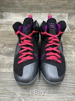 Nike Lebron James 9 IX Miami Nuit 469764-002 Noir Gris Gris Rose Graphite 10