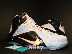 Nike Lebron XII 12 Pâques Gris Aluminium Sunset Glow Lava Rose Noir Argent Ds 11