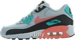 Nike Nike Air Max 90 Taille De La Jeunesse 7y Chaussures Gry / Pnk / Aqua / Blk 833376 013