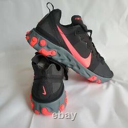 Nike React Element 55 Black Solar Red Pink Cool Grey Running Homme Bq6166-002