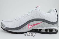 Nike Reax Run 5 Blanc / Rose / Argent / Gris / Noir Running Trainer Torch Us Femmes Taille