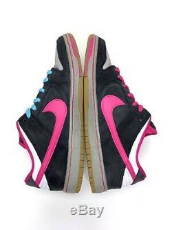 Nike Sb Dunk Low Pro À Usage Unique 504750-061 Noir / Rose / Gris Sz 10 2014
