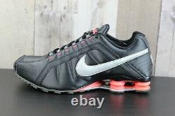 Nike Shox Junior Femmes Sz 11 Black Grey Pink Running Training Shoes 454339-016
