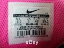 Nike Shox Nz 636088 026 Noir / Gris Rose Sz 8.5 Authentique