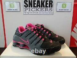 Nike Shox Nz 636088 026 Noir / Gris Rose Taille 7 Explosion