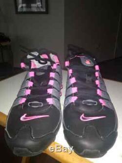 Nike Shox Shoesgray / Pink / Blk Femmes Sz 7.5 Porté Une Fois