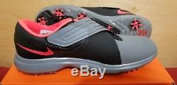 Nike Tiger Woods Golf Chaussures Tw 17 Taille 10.5 Noir Gris Rose