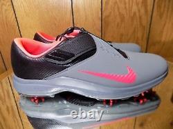 Nike Tw 17 Tiger Woods Golf Chaussures Hommes Gris / Rose / Noir Sz 12 880955-003
