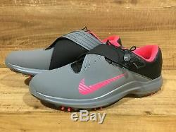 Nike Tw 17 Tiger Woods Golf Chaussures Hommes Taille 11 Gris / Rose Punch / Noir 880955-003