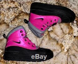 Nike Woodside 2 Bottes Pre School High Rose Noir Gris Nouveau Petites Filles Sz 1