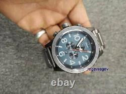 Nixon Watch A0832340 Chrono Grey Black/steel Nouveau 51-30 W Box A083-2340 Genuine