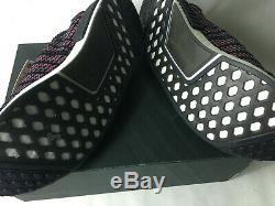 Nouveau Adidas Nmd R1 Stlt Pk Chaussures Hommes Noir / Gris / Solaire Rose Cq2386 Boost Taille 13