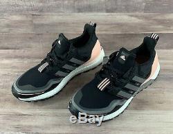 Nouveau Adidas Ultraboost Garde W Noir Gris Rose Femmes Sz 7 Chaussures De Course Fu9465