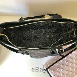Nouveau Betsey Johnson Baby Bag Rose / Gris / Noir Set De Fourre-tout À Langer Msr $ 158