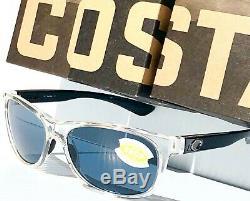 Nouveau Costa Del Mar Prop Clear Noir W Polarized Grey 580p Lens Sunglass Pr 45