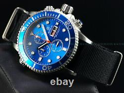 Nouveau Deep Blue 44mm Master 1000 Quartz Chronographe Royal Blue Sapphire Ss Diver