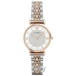 Nouveau Emporio Armani Ar1926 Ladies Two Tone Watch 2 Years Warranty Certificate