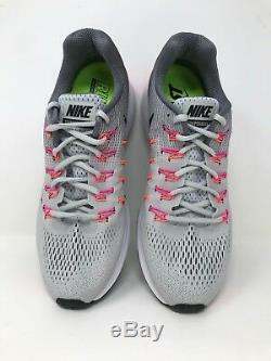 Nouveau! Femme Nike 831356-006 Air Zoom Pegasus 33 Platine / Gris / Rose / Noir A23