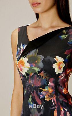 Nouveau Karen Millen Orchid Bnwt 200 € Robe De Soirée Crayon Imprimé Floral Vente Vente