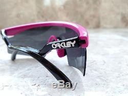 Nouveau! Lames De Rasoir Oakley Gen II 2005 Monture Rose Et Noir Avec Lentille Grise Très Rare